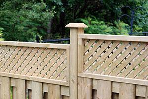 Lexington SC wood privacy fence